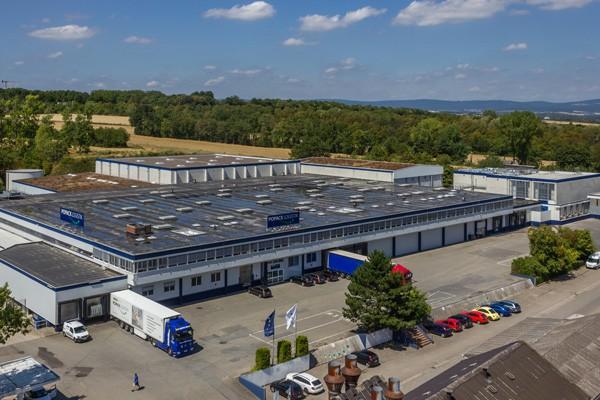 Luftbildaufnahme des Firmengebäudes