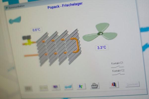 Temperaturdokumentation im Popack Frischelager